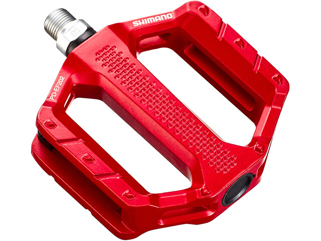 Shimano PD-EF202 Flat Pedals, red